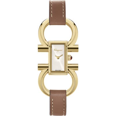 Salvatore Ferragamo Double Gancini Bracelet Watch, 13.5Mm X 23.5Mm