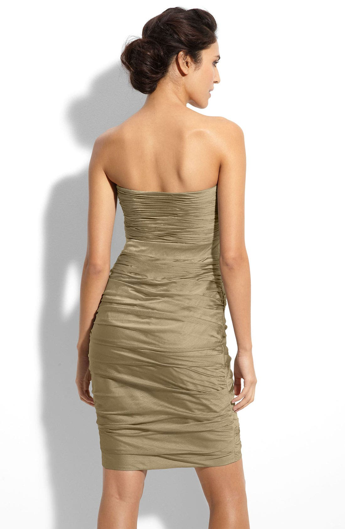 ,                             Ruched Strapless Cationic Chiffon Dress,                             Alternate thumbnail 30, color,                             290
