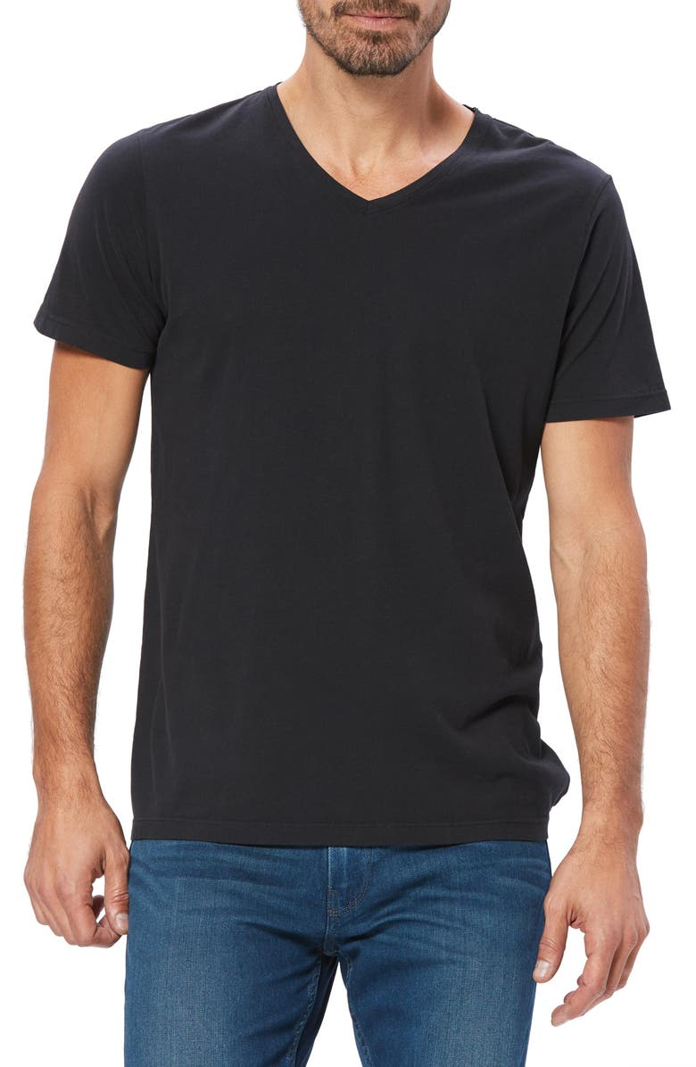 PAIGE Grayson V-Neck T-Shirt, Main, color, BLACK