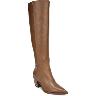 Sam Edelman Lindsey Pointed Toe Knee High Boot, Brown