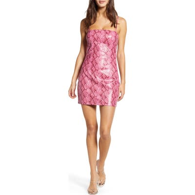 Tiger Mist Viper Minidress, Pink