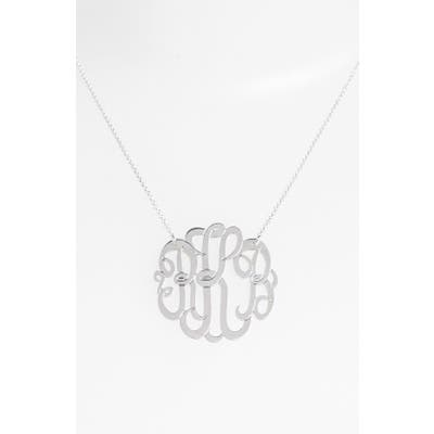 Argento Vivo Personalized Large 3-Initial Letter Monogram Necklace (Nordstrom Exclusive)