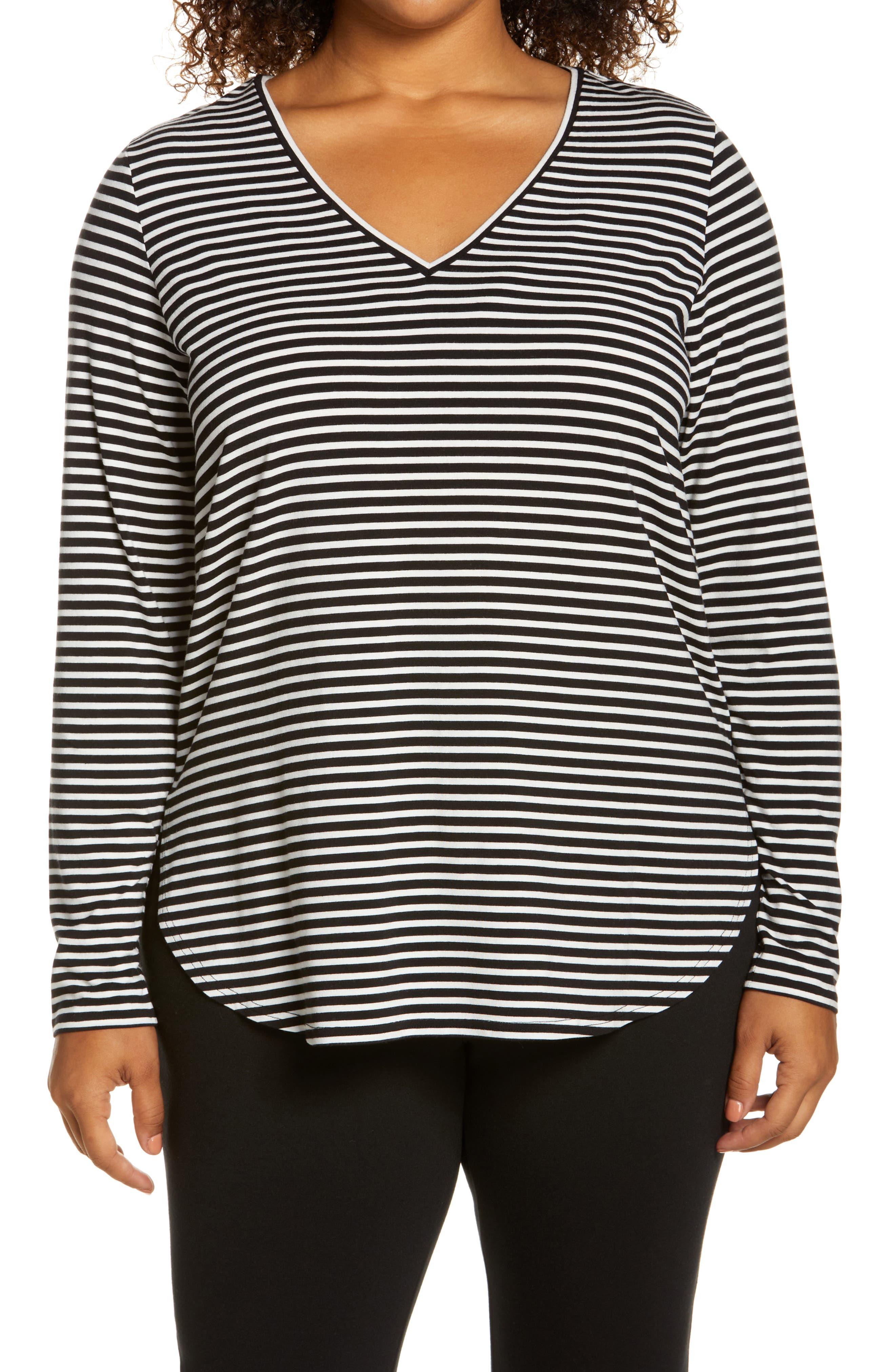 Plus Size Women's Halogen Stripe Tunic