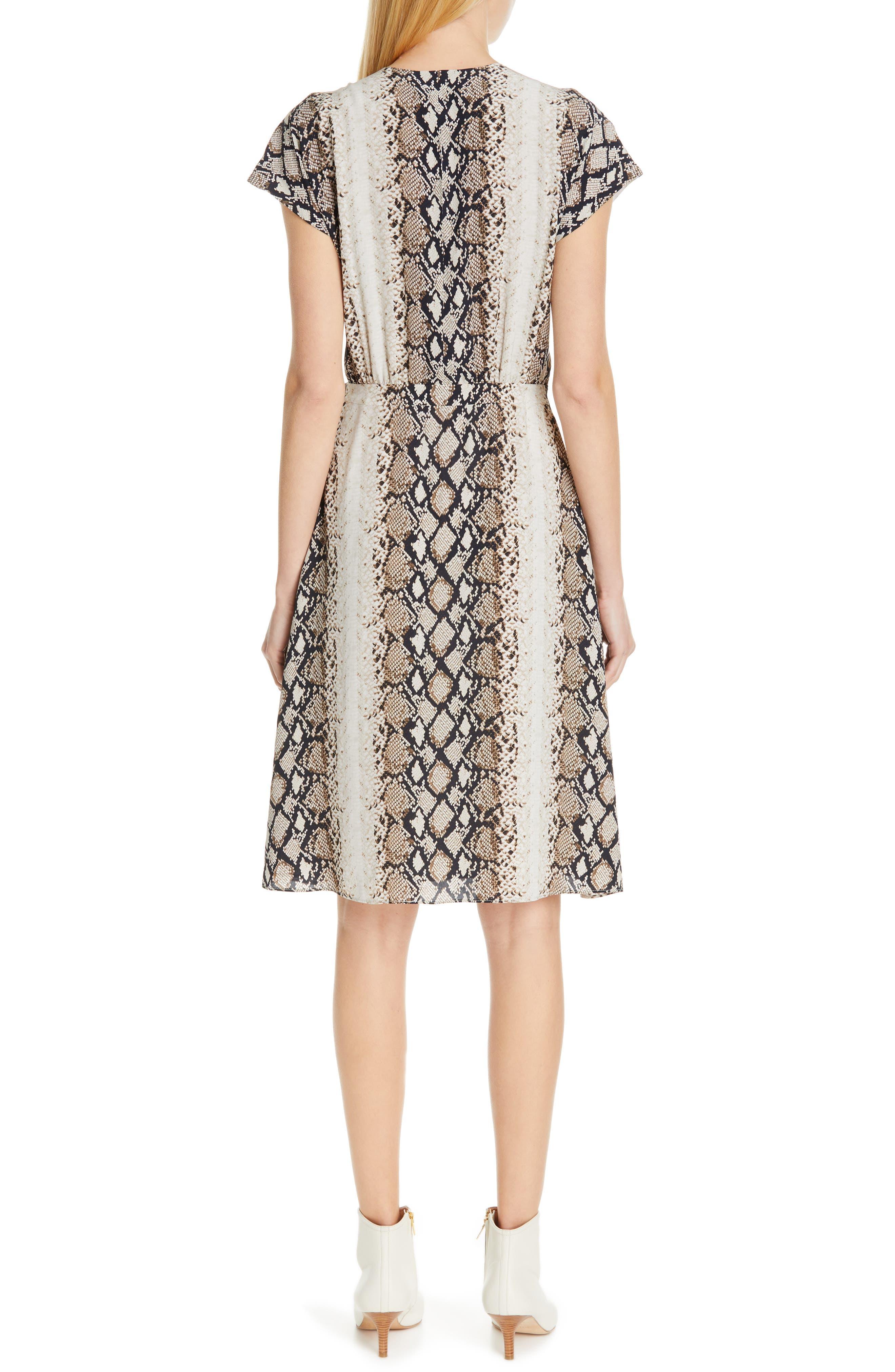 ,                             Bethwyn C Snakeskin Print Wrap Style Dress,                             Alternate thumbnail 9, color,                             900