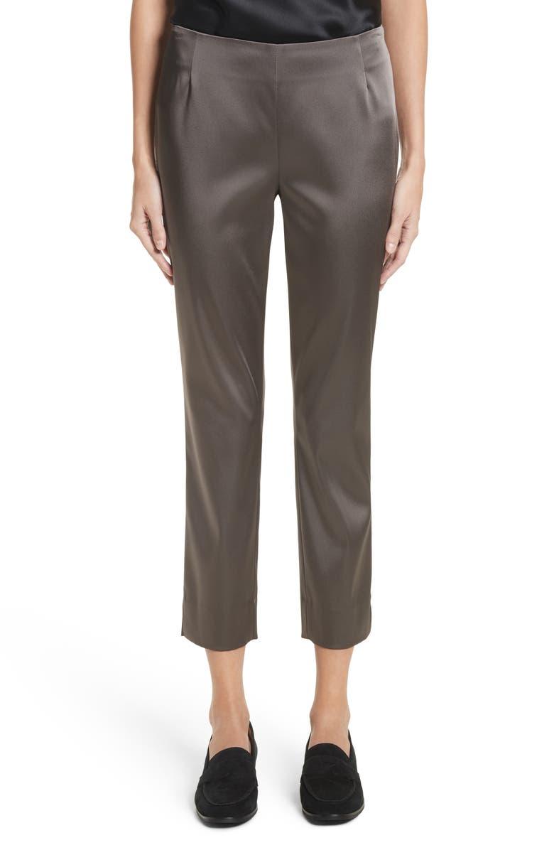 LAFAYETTE 148 NEW YORK 'Stanton - Belle Satin' Pants, Main, color, LEAD