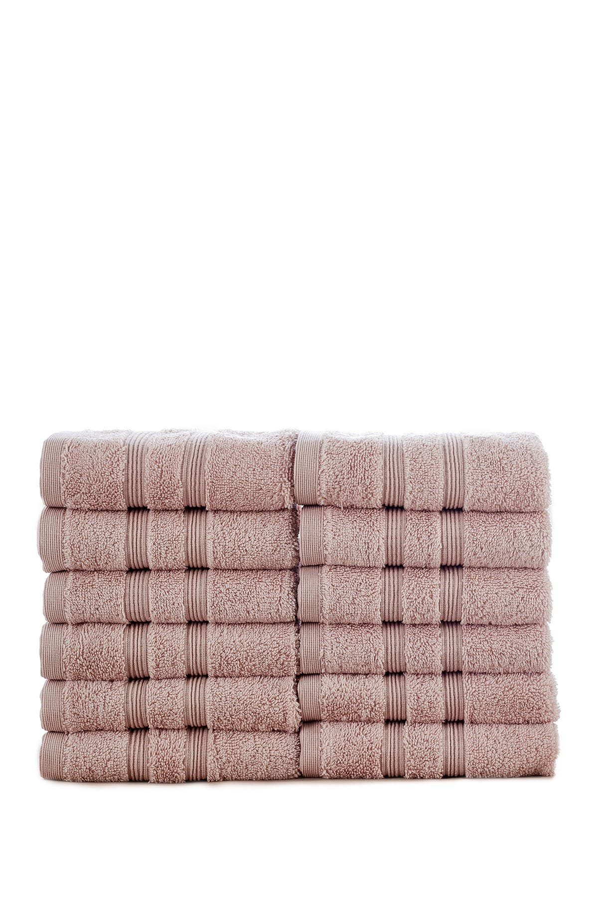Image of Modern Threads Manor Ridge Turkish Cotton 700 GSM Wash Cloth - Set of 12 - Blush