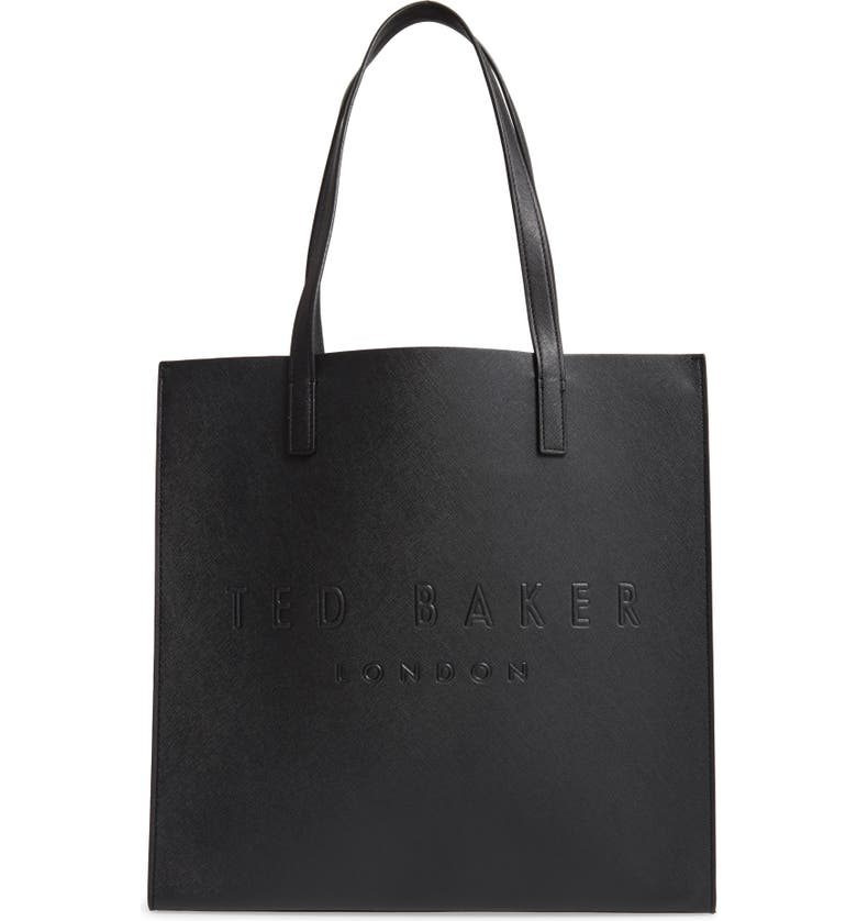 TED BAKER LONDON Large Soocon Embossed Logo Icon Tote, Main, color, 013