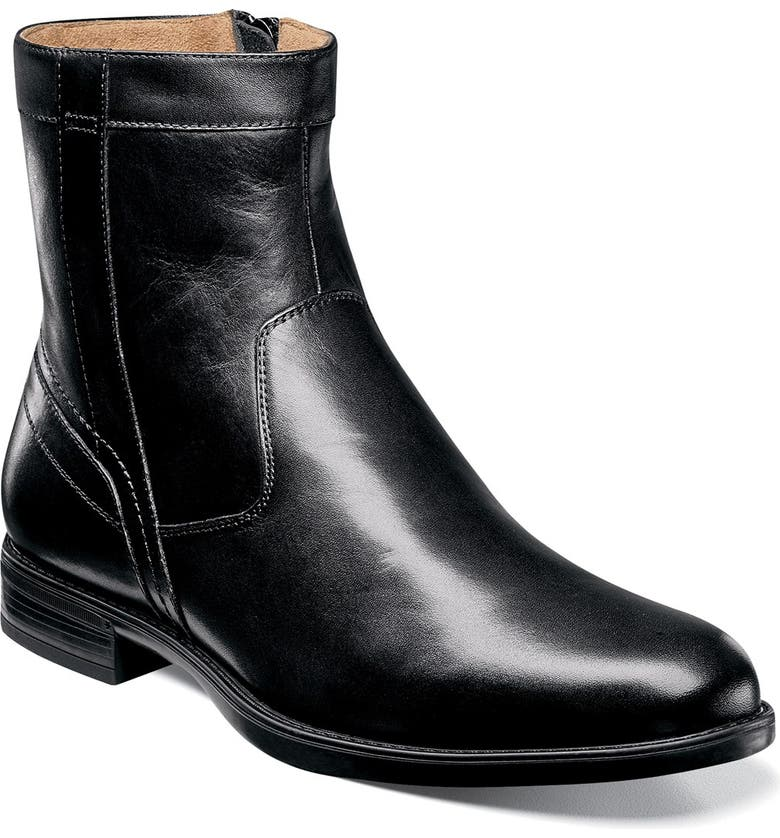 FLORSHEIM 'Midtown' Zip Boot, Main, color, BLACK LEATHER