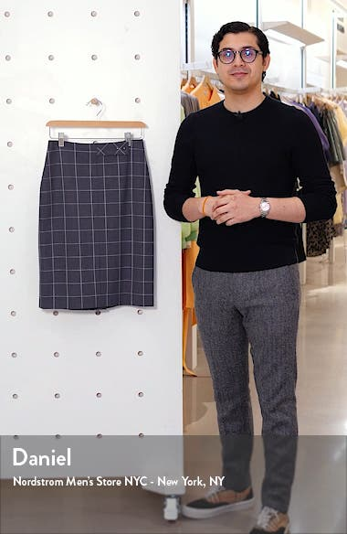 Vensina Windowpane Check Pencil Skirt, sales video thumbnail