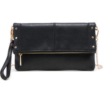 Sole Society Claudia Faux Leather Clutch - Black