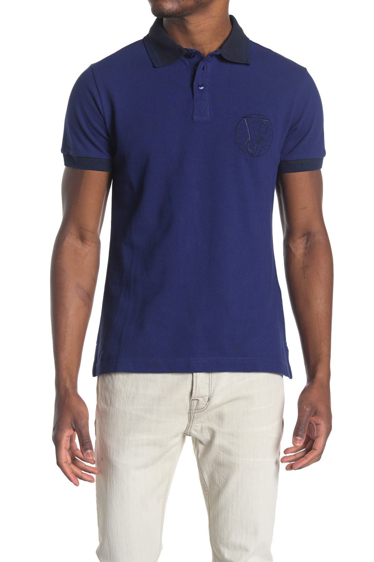 Image of Versace Jeans Accent Polo Shirt