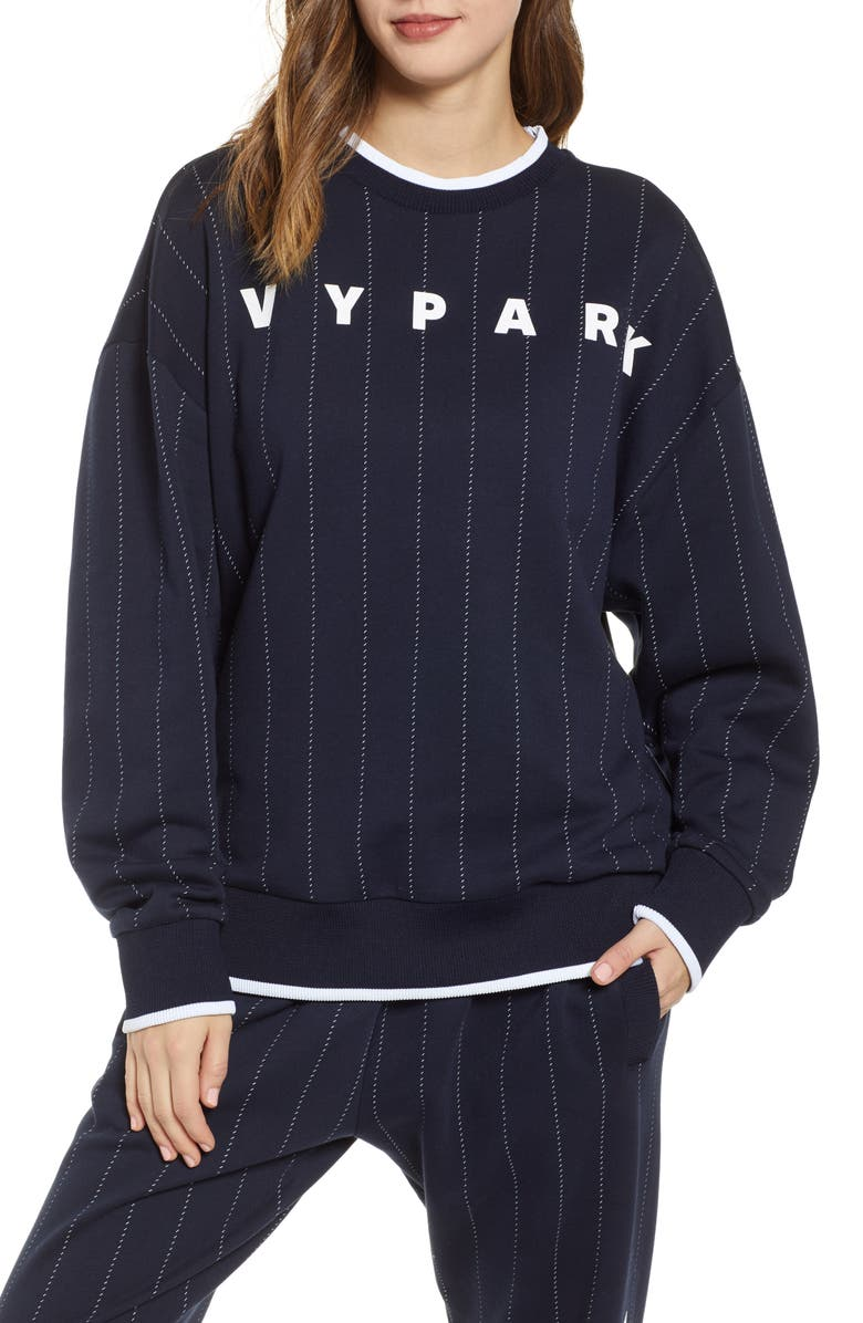 IVY PARK<SUP>®</SUP> Baseball Pinstripe Sweatshirt, Main, color, 400