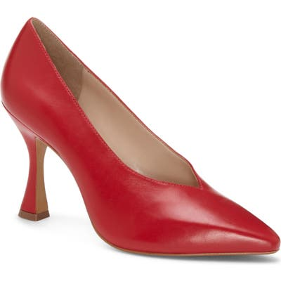 Vince Camuto Ishani Pointy Toe Pump- Red