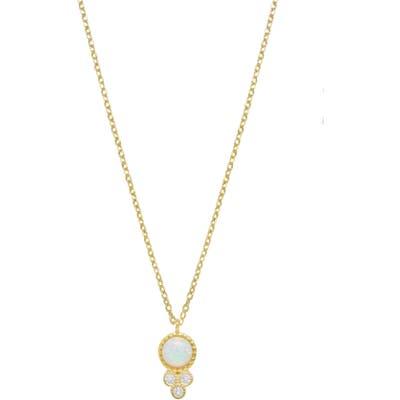 Ettika Opal & Crystal Pendant Necklace