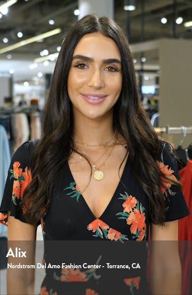 Bibi Pleated Floral Halter Maxi Dress, sales video thumbnail