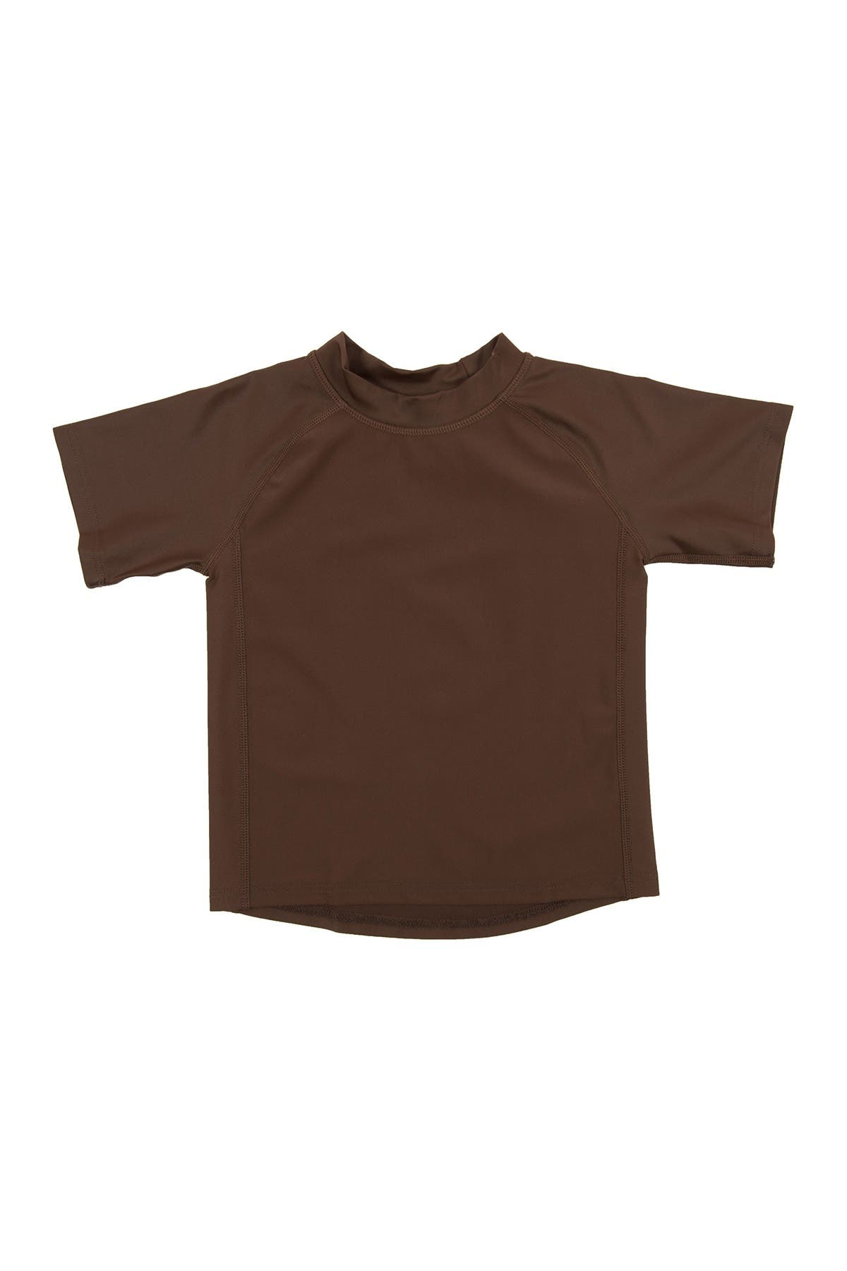 Image of Leveret Short Sleeve UPF +50 Rash Guard - Brown