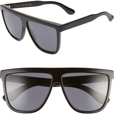 Gucci 61Mm Flat Top Sunglasses -