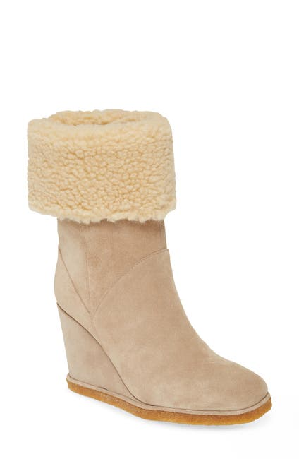 Image of Jeffrey Campbell Faux Shearling Wedge Boot