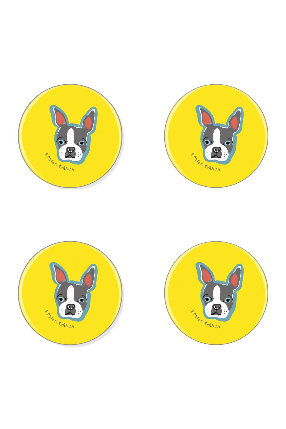 Fringe Studio Bff Boston Terrier Coasters Set Of 4 Nordstrom Rack