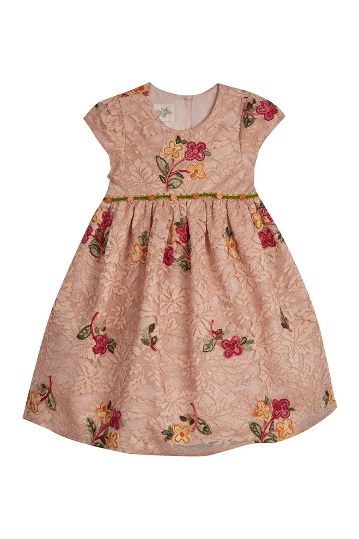 Image of Laura Ashley Floral Embroidered Dress (Baby Girls)