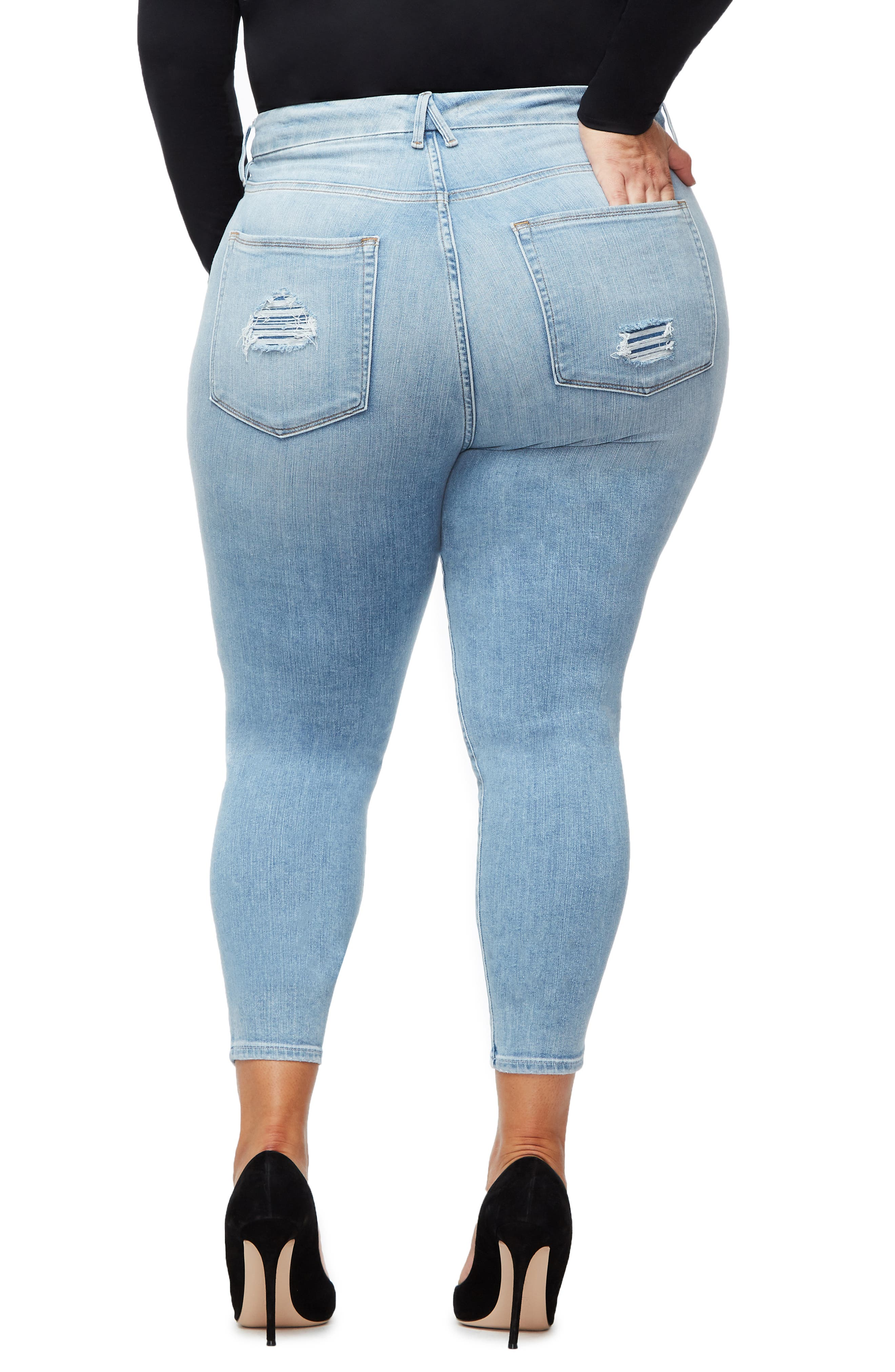 ,                             Good Legs Ankle Skinny Jeans,                             Alternate thumbnail 24, color,                             404