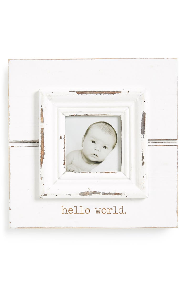 MUD PIE Hello World Picture Frame, Main, color, 100