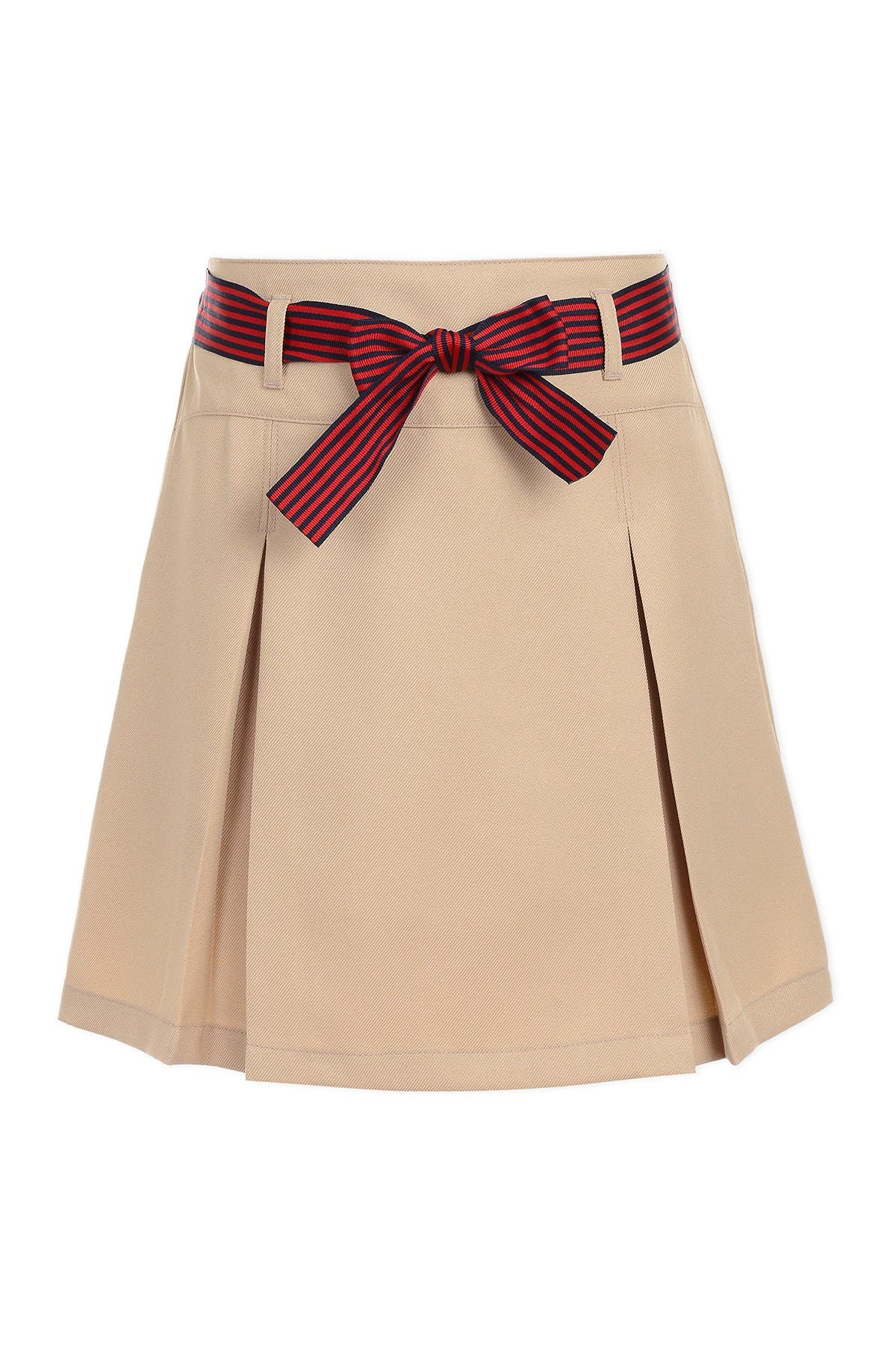 Image of Nautica Uniform Striped Bow Pleated Scooter