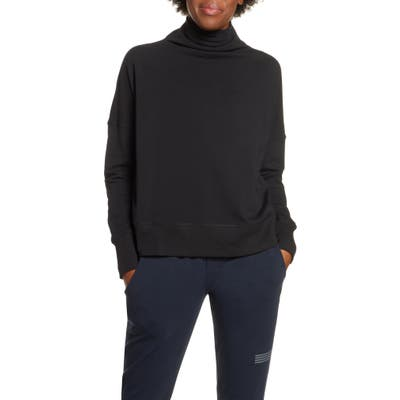 Vuori French Terry Funnel Neck Sweatshirt, Black