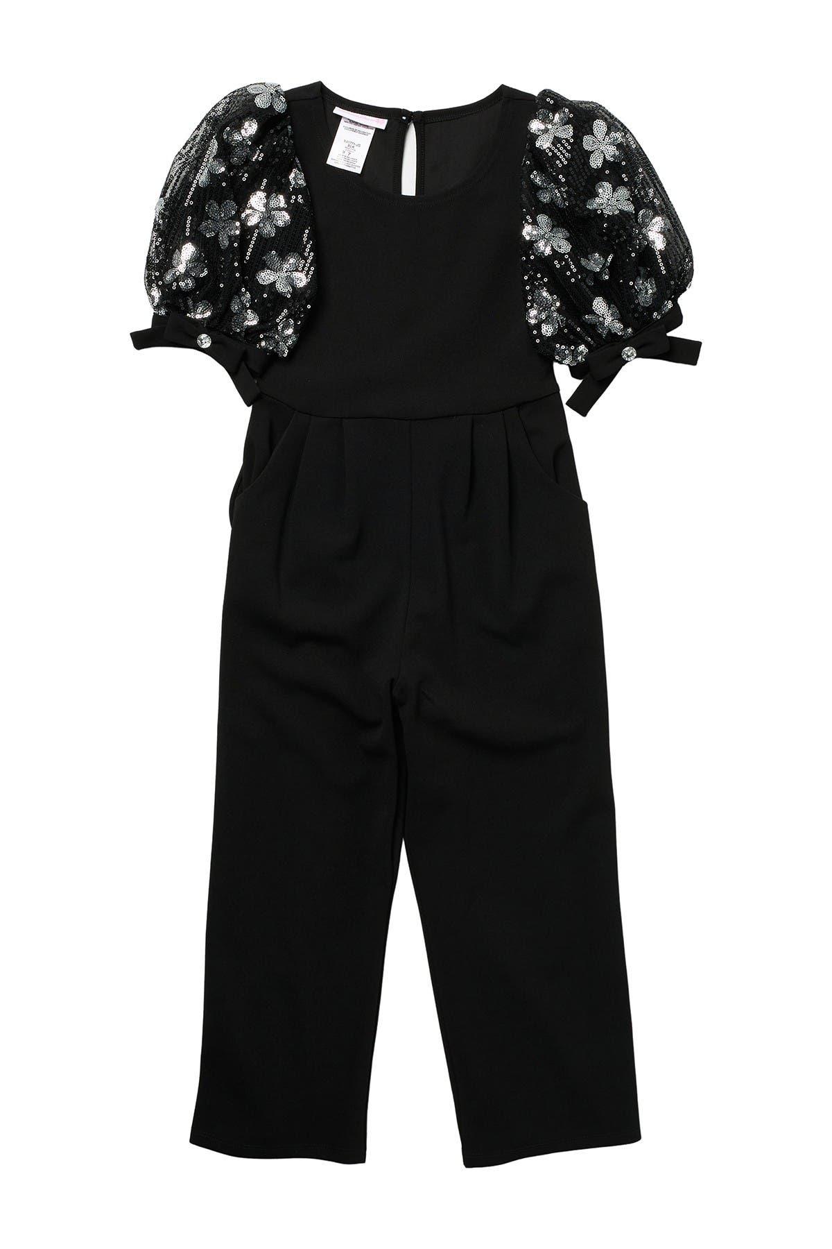 Image of GERSON & GERSON Floral Bubble Sleeve Jumpsuit