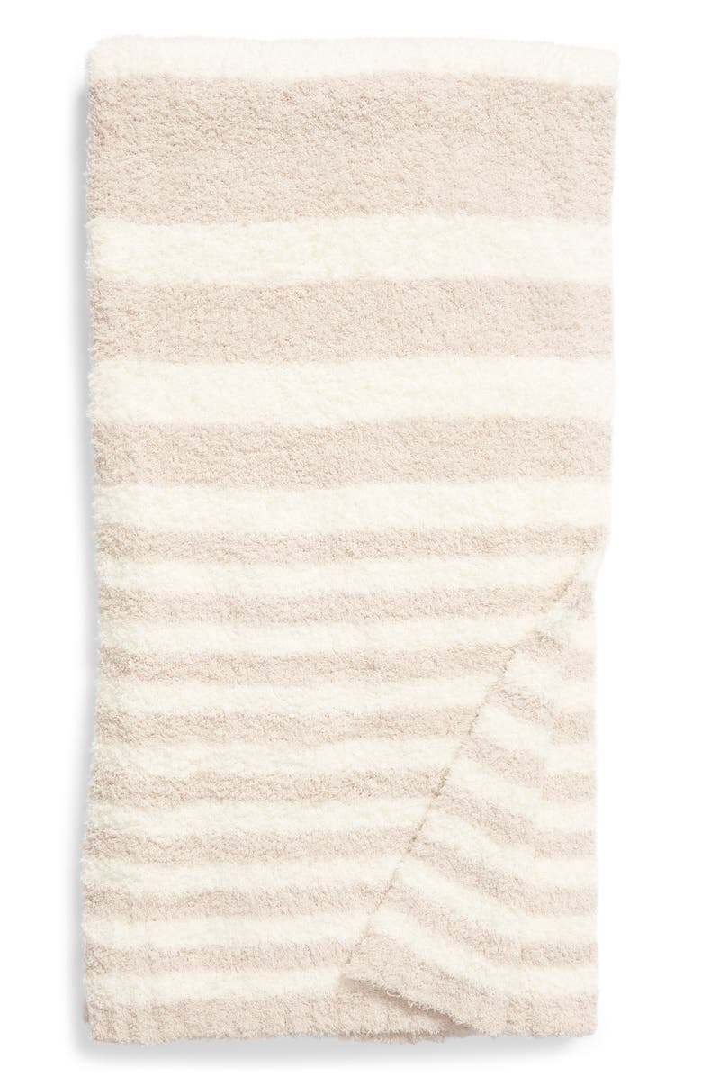 BAREFOOT DREAMS<SUP>®</SUP> CozyChic<sup>™</sup> Variegated Stripe Throw, Main, color, STONE MULTI
