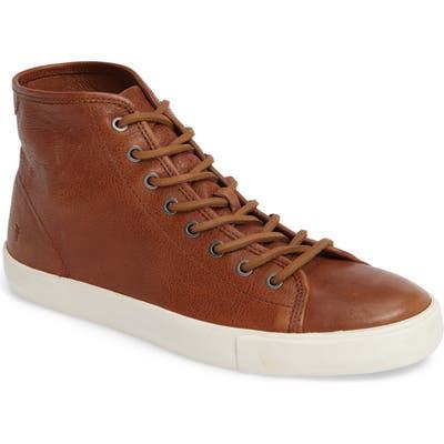 Frye Brett High Top Sneaker- Brown