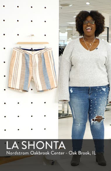 Pleated Stripe Shorts, sales video thumbnail