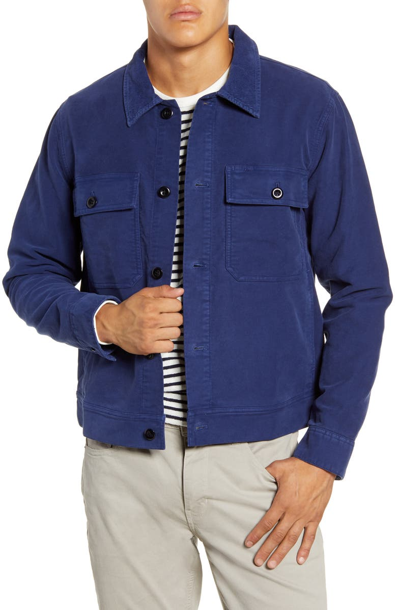 ALEX MILL Moleskin Work Jacket, Main, color, NAVY