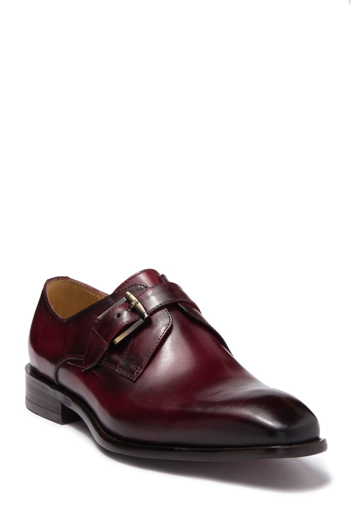 Image of MAISON FORTE Davos Buckle Strap Leather Loafer