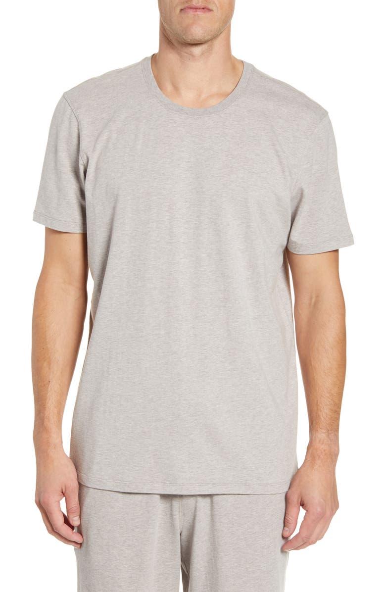DANIEL BUCHLER Stretch Cotton & Modal Crewneck T-Shirt, Main, color, SAND