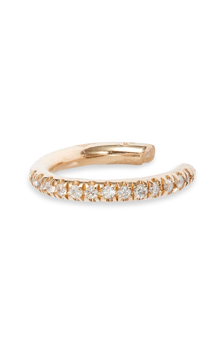 ZOË CHICCO Pavé Diamond Ear Cuff, Main, color, YELLOW GOLD/ DIAMOND
