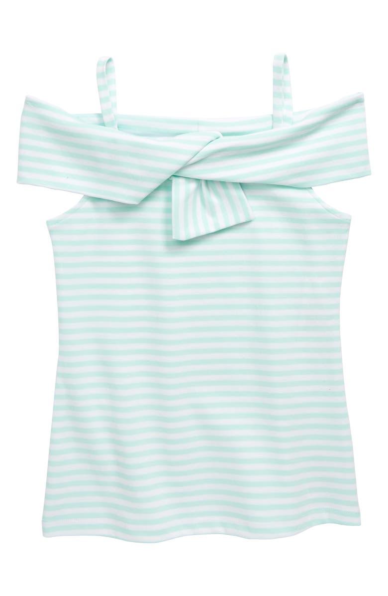 HABITUAL GIRL Stripe Twist Yoke Top, Main, color, 400