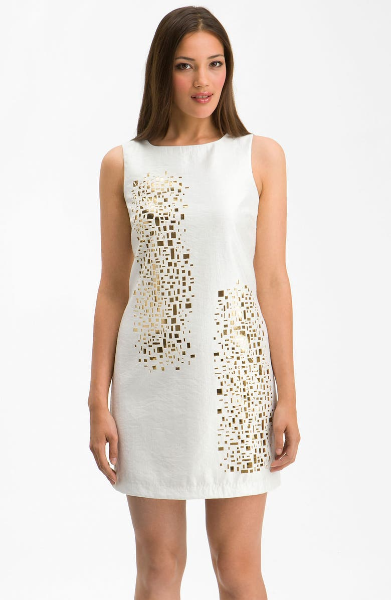 ALEXIA ADMOR 'Mosaic' Cutout Shift Dress, Main, color, 180