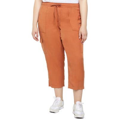 Plus Size Sanctuary Discoverer Pull-On Cargo Pants, Orange