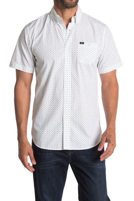 Image of Obey Riggs Woven Short Sleeve Slim Fit Shirt