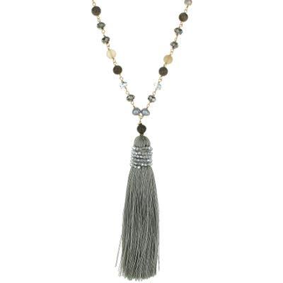 Panacea Crystal Tassel Beaded Necklace