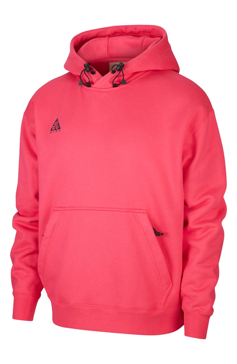 NIKE ACG Men's Pullover Hoodie, Main, color, RUSH PINK/ANTHRACITE