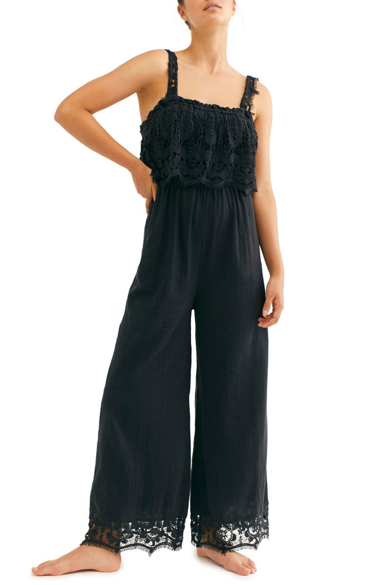 FREE PEOPLE Endless Summer by Free People In Your Dreams Jumpsuit, Main, color, BLACK