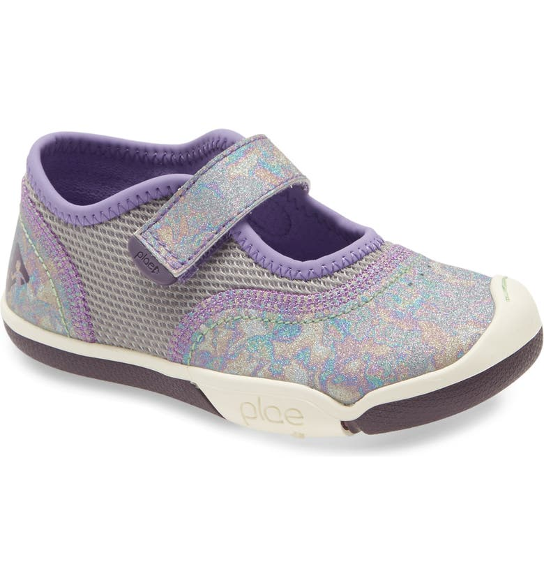 PLAE Emme Sparkle Mary Jane Sneaker, Main, color, PUZZLED PLUM