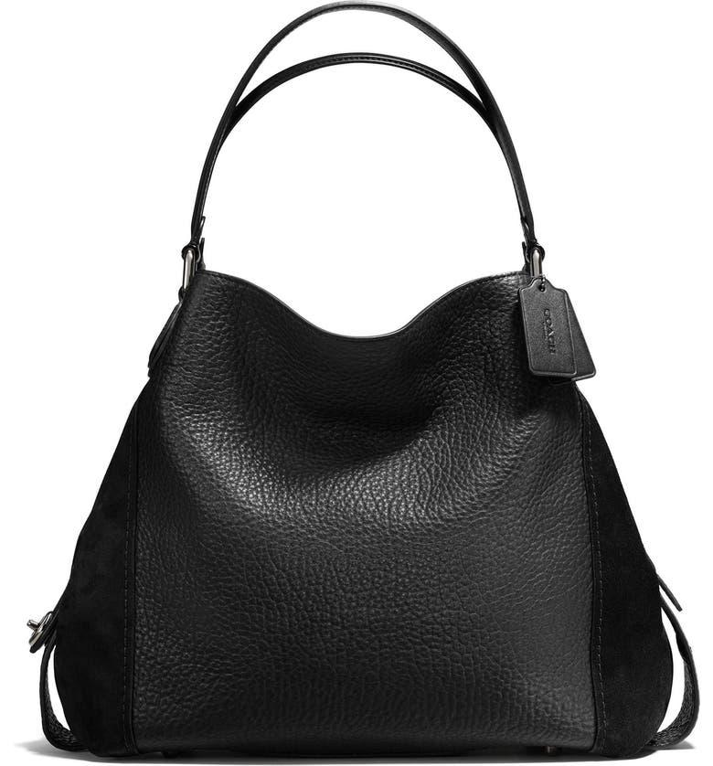 Edie 42 Leather & Suede Shoulder Bag