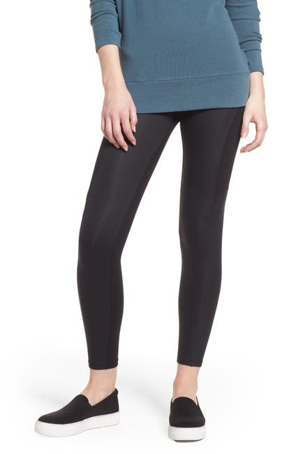 Image of Yummie by Heather Thomson Coated Side Panel Ankle Leggings