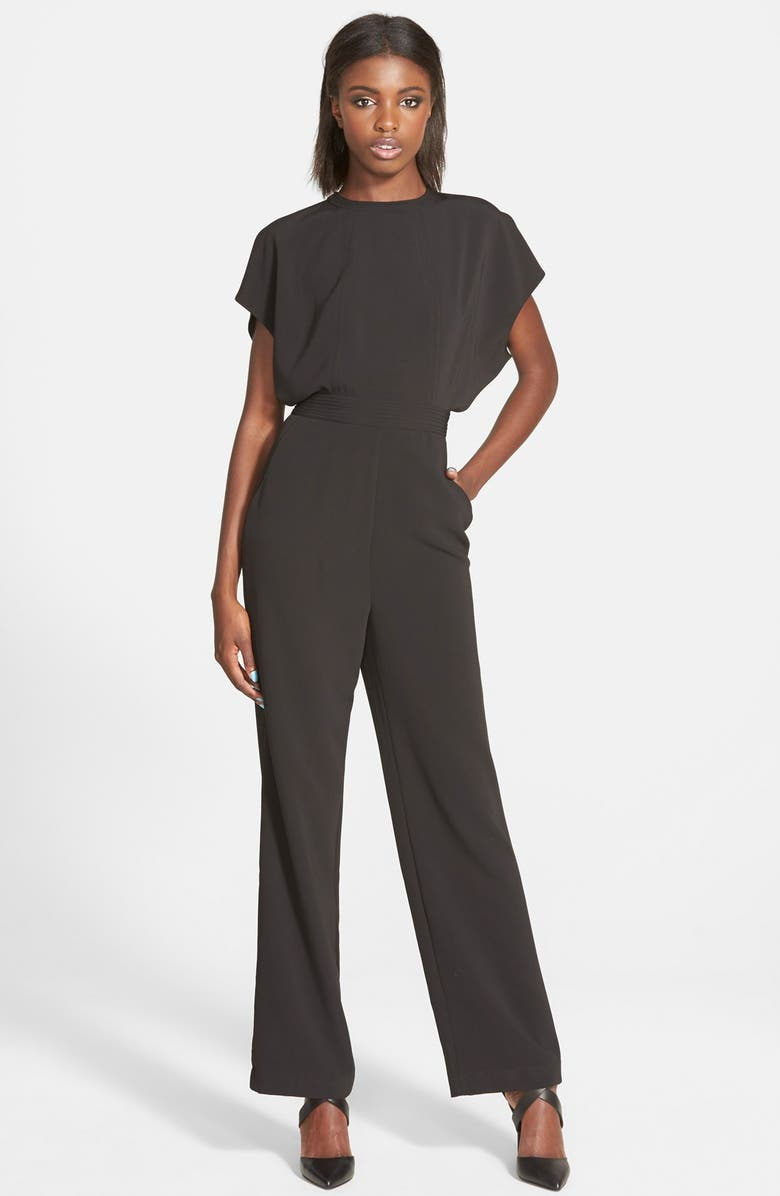 C/MEO COLLECTIVE 'Wild World' Belted Jumpsuit, Main, color, 001