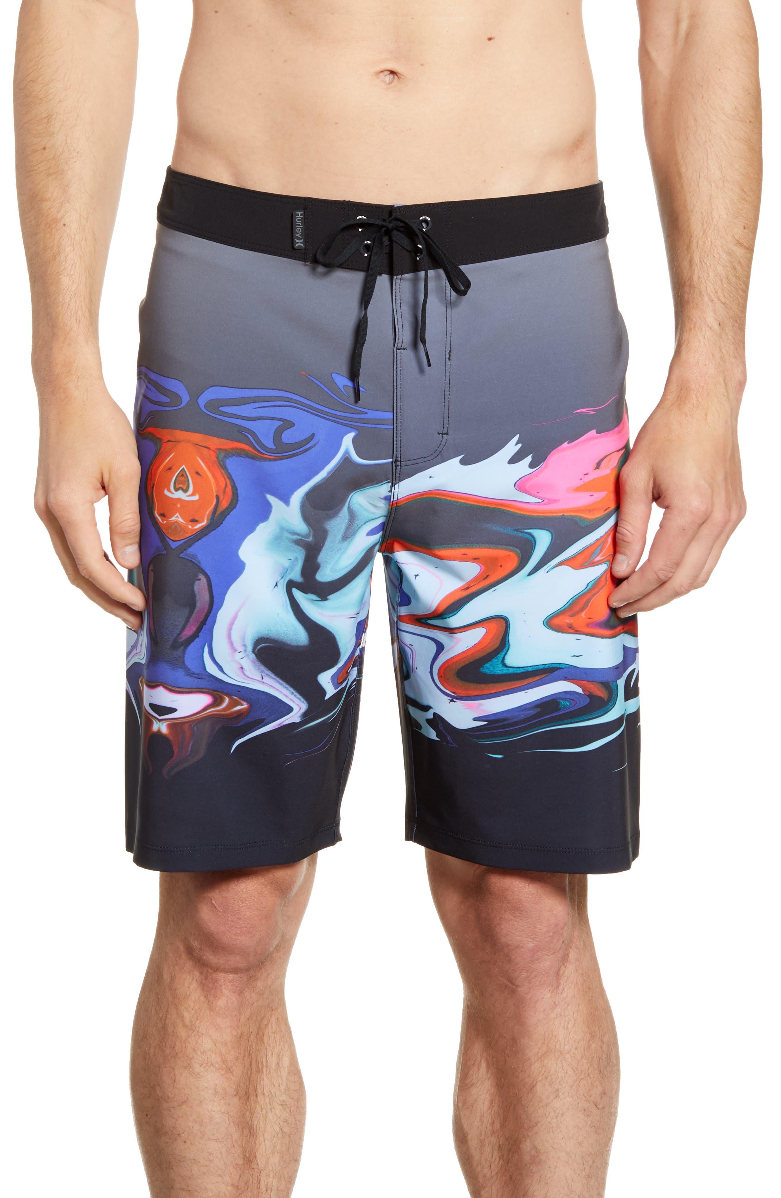Hurley Phantom Voodoo Board Shorts, Black