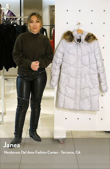Sternway Quilted Hooded Parka with Faux Fur Trim, sales video thumbnail