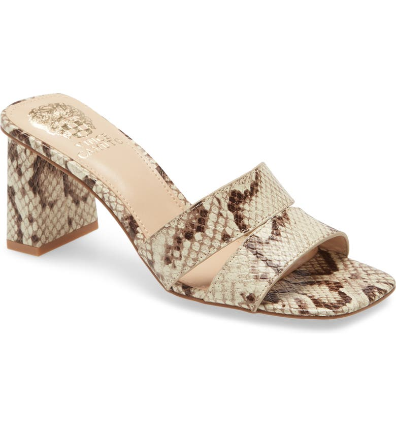 VINCE CAMUTO Taletha Sandal, Main, color, SNAKE PRINT LEATHER